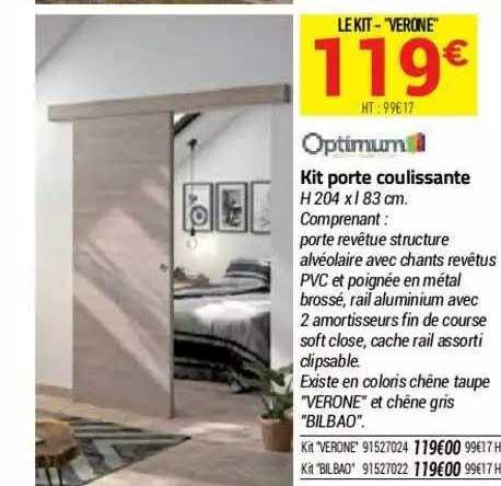 Bricorama Kit Porte Coulissante Optimum
