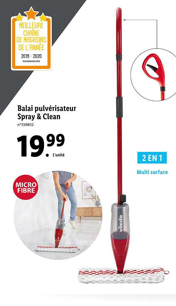 Lidl Balai Pulvérisateur Spray&clean Vileda