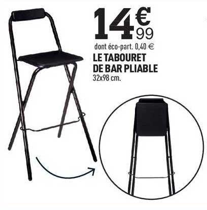 Centrakor Le Tabouret De Bar Pliable