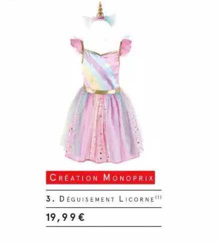 Monoprix Déguisement Licorne Création Monoprix