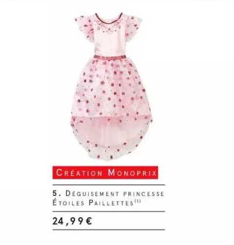 Monoprix Déguisement Princesse étoiles Paillettes Création Monoprix