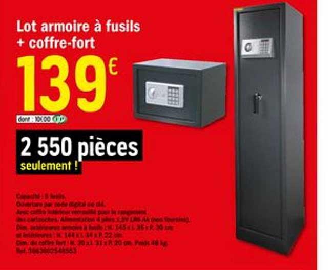 Brico Dépôt Lot Armoire à Fusils + Coffre Fort