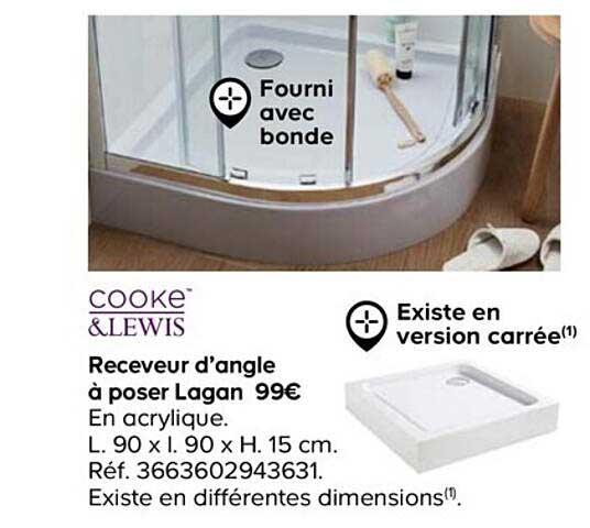 Castorama Cooke&lewis Receveur D'angle à Poser Lagan