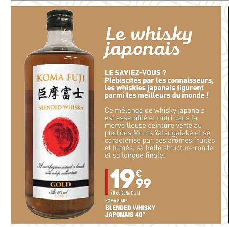 Aldi Blended Whisky Japonais 40° Koma Fuji