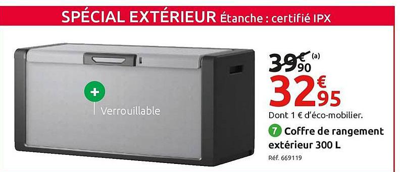 Offre Coffre De Rangement Extérieur 300 L chez Mr Bricolage