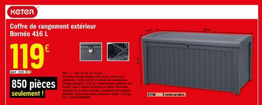 Offre Coffre De Rangement Exterieur Borneo 416 L Chez Brico Depot