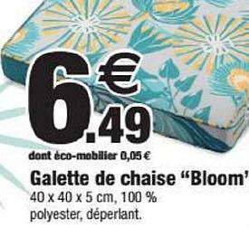 Bazarland Galette De Chaise Bloom