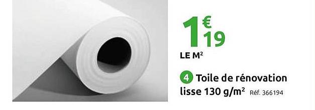 Offre Toile De Renovation Lisse 130g M2 Chez Mr Bricolage