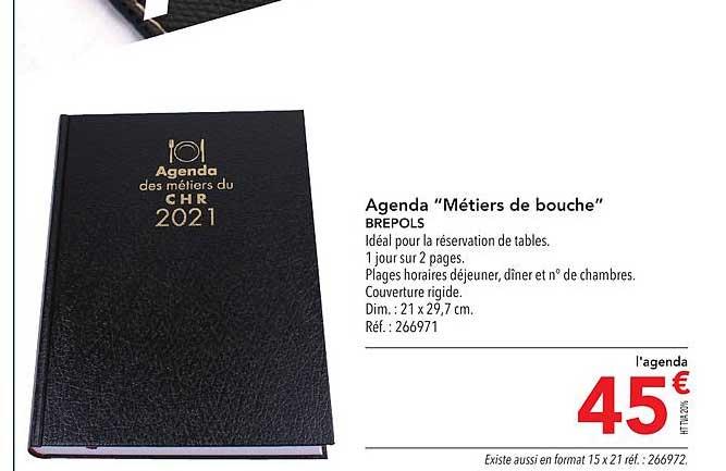 METRO Agenda Métiers De Bouche Brepols