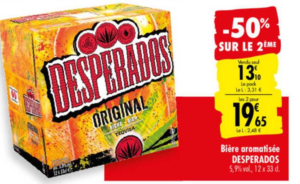 Carrefour Bière Aromatisée Desperados -50% Sur Le 2e