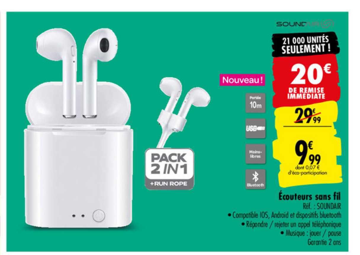 Carrefour écouteurs Sans Fil