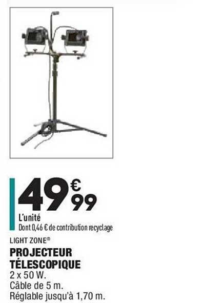Aldi Projecteur Télescopique Light Zone