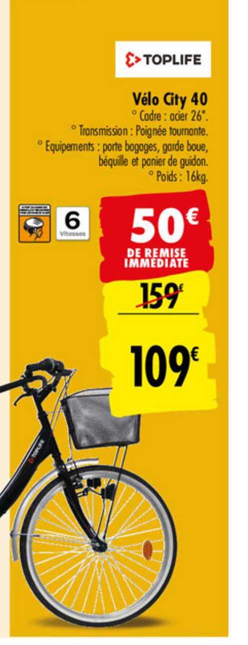 Carrefour Vélo City 40 Toplife