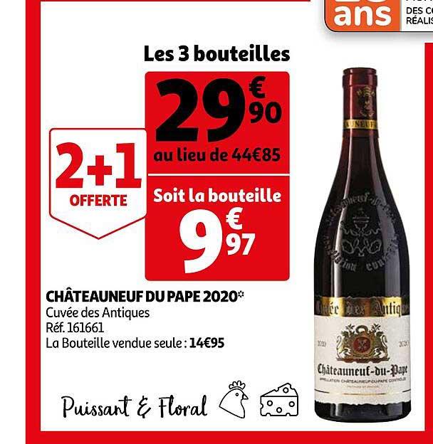 Auchan Châteauneuf Du Pape 2020 Cuvée Des Antiques