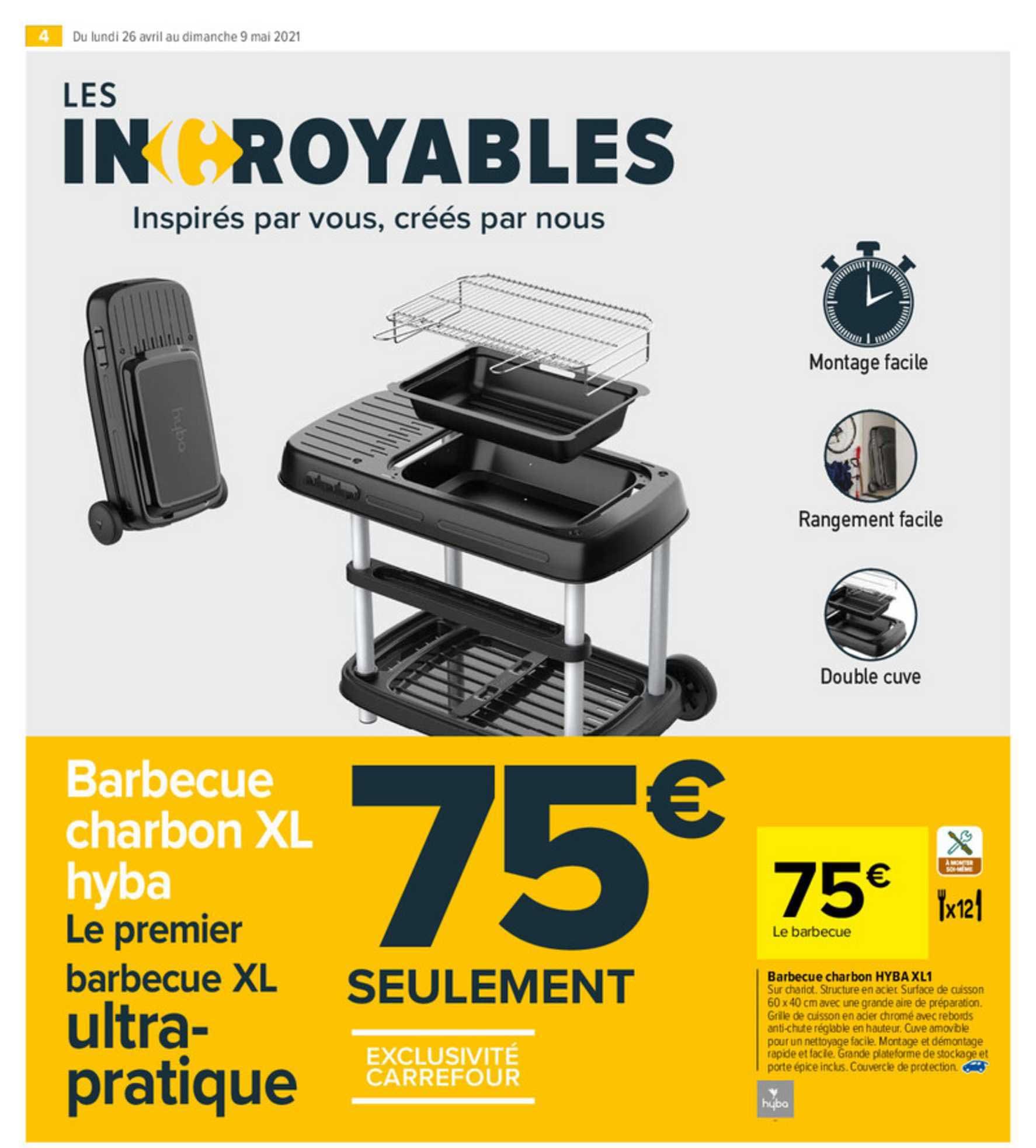 Carrefour Market Barbecue Charbon Hyba Xl1