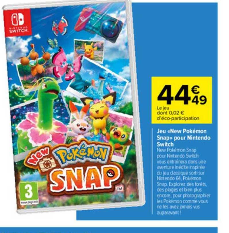 Carrefour Jeu «new Pokémon Snap» Pour Nintendo Switch