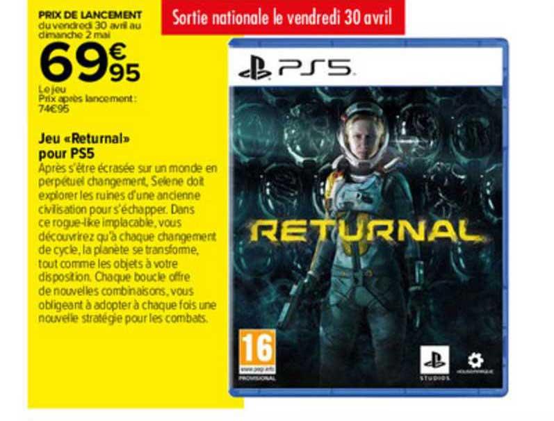 Carrefour Jeu «returnal» Pour Ps5