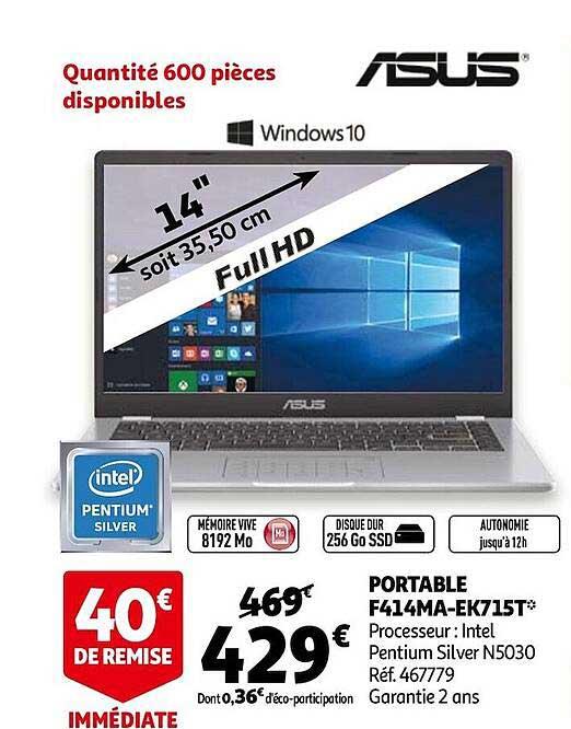 Auchan Portable F414ma-ek715t Asus