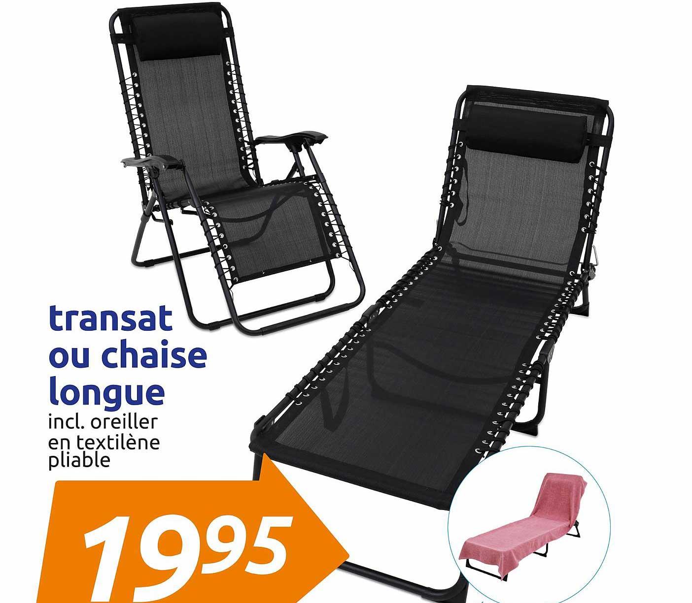Action Transat Ou Chaise Longue