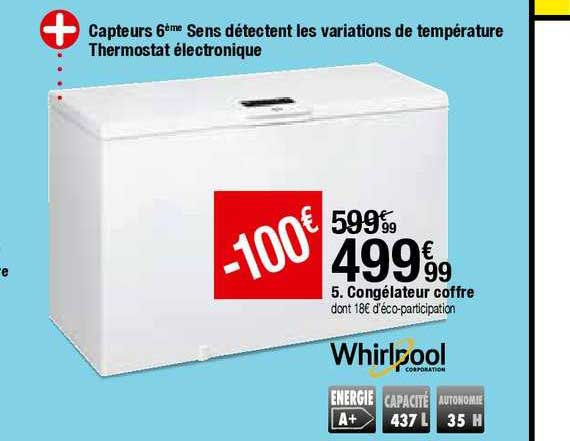 Offre Congelateur Coffre Whirlpool Chez But