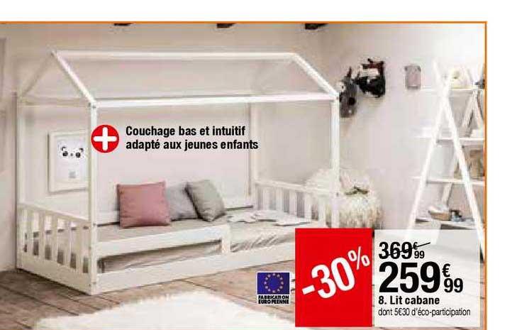 Offre Lit Cabane En Bois Massif 90 X 190 Cm Louis Chez Auchan
