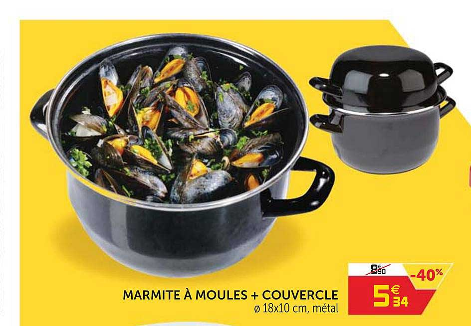 GiFi Marmite à Moules + Couvercle