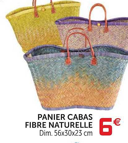 Offre Panier Cabas Fibre Naturelle Chez Gifi