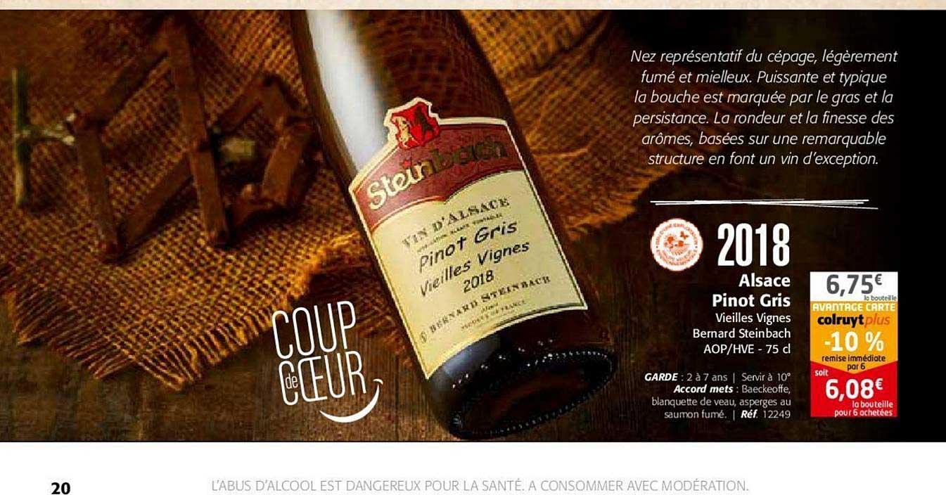 Colruyt 2018 Alsace Pinot Gris Vieilles Vignes Bernard Steinbach Aop Hve