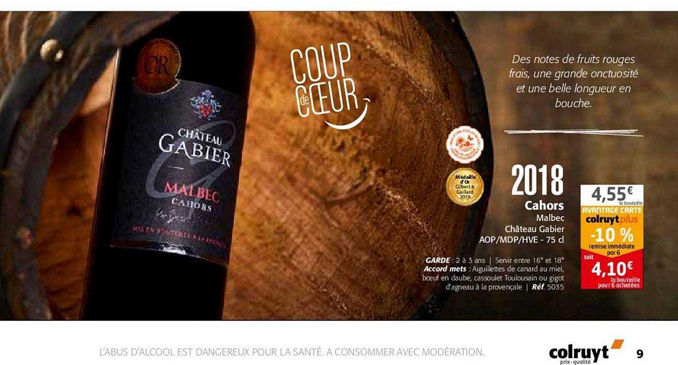Colruyt 2018 Cahors Malbec Château Gabier