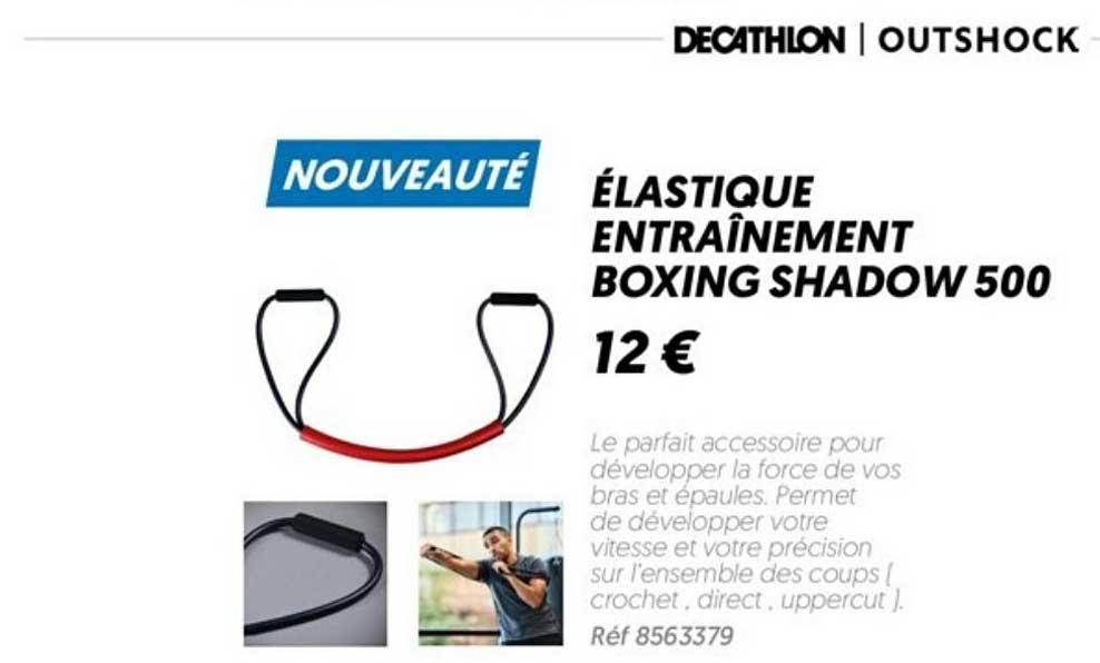 Offre Elastique Entrainement Boxing Shadow 500 Chez Decathlon