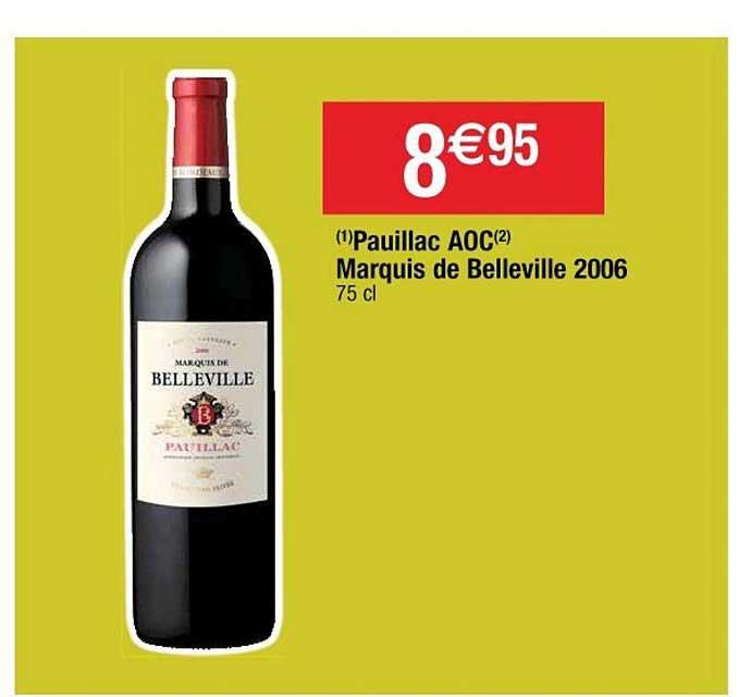Cora Pauillac Aoc Marquis De Belleville 2006