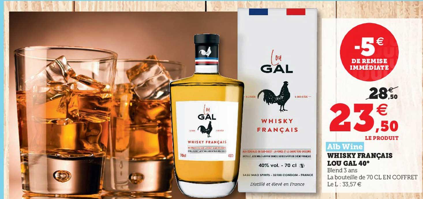 Hyper U Alb Wine Whisky Français Lou Gal 40°