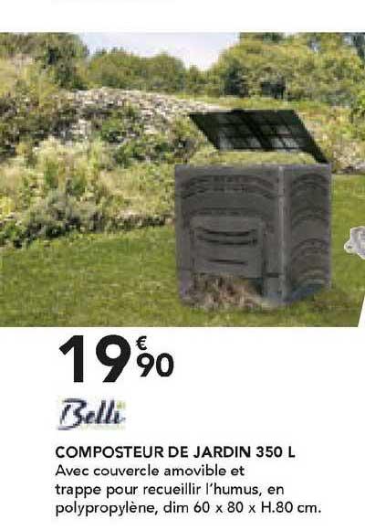Les Briconautes Belli Composteur De Jardin 350 L