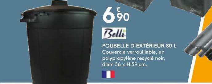 Les Briconautes Belli Poubelle D'extérieur 80 L