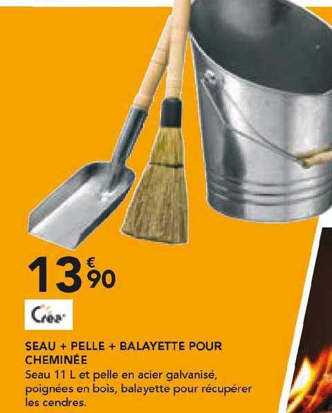 Les Briconautes Crea Seau + Pelle + Balayette Pour Cheminée