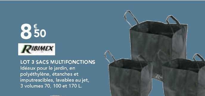 Les Briconautes Ribimex Lot 3 Sacs Multifonctions
