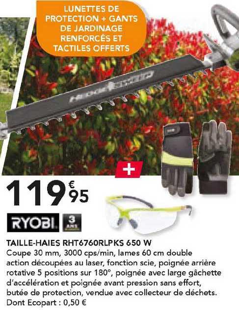 Les Briconautes Ryobi Taille-haies Rht6760rlp Ks 650 W
