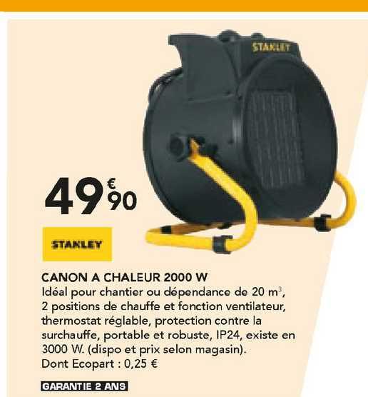 Les Briconautes Stanley Canon A Chaleur 2000 W