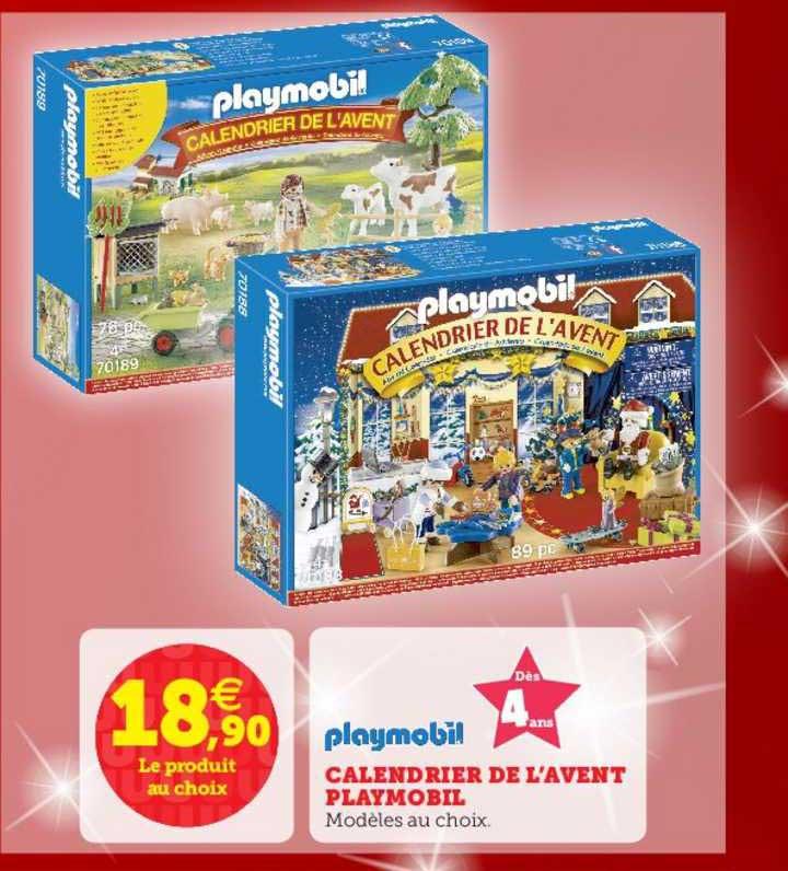 Calendrier De Lavent Playmobil 2022 Offre Calendrier De L'avent Playmobil chez Super U