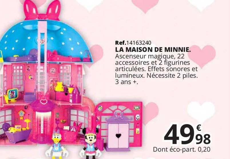Offre La Maison De Minnie Chez Maxi Toys