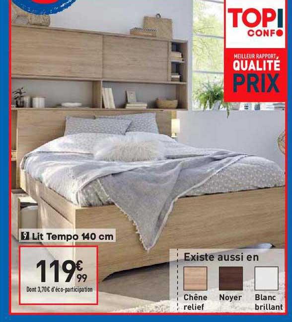 Offre Lit Tempo 140 Cm Chez Conforama
