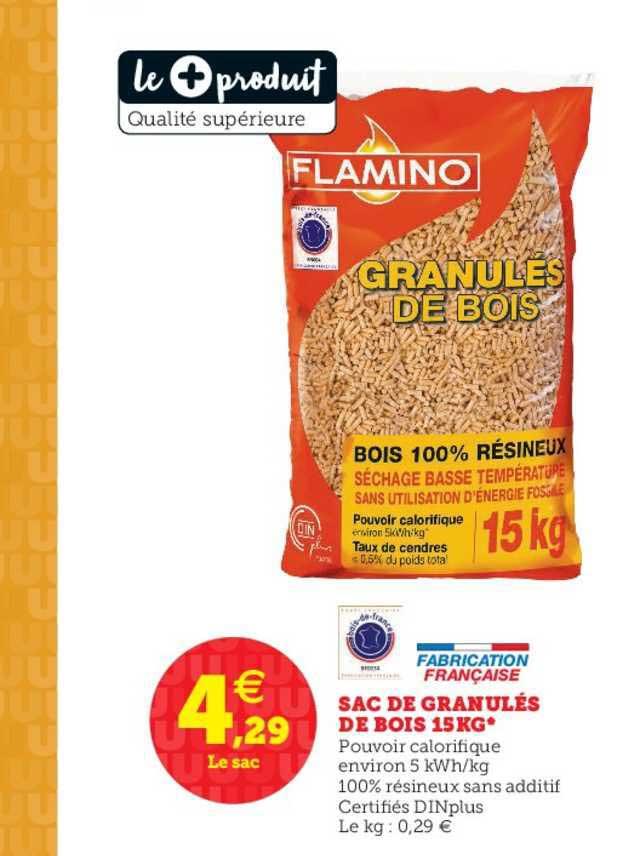 Super U Sac De Granulés De Bois 15 Kg Flamino