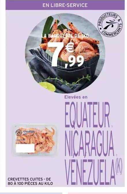 Intermarché Crevettes Cuites De 80 à 100 Pièces Au Kilo