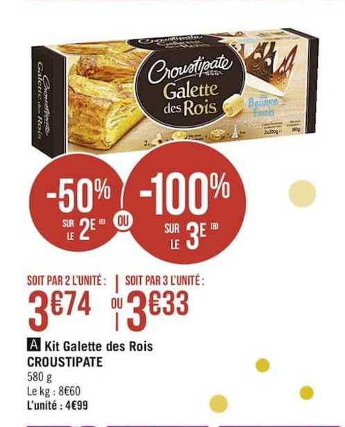 Casino Supermarchés Kit Galette Des Rois Croustipate