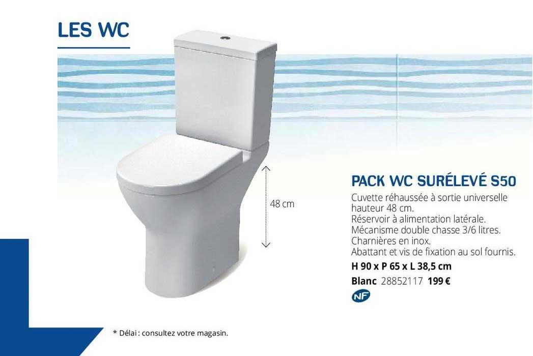 Gedimat Pack Wc Surélevé S50