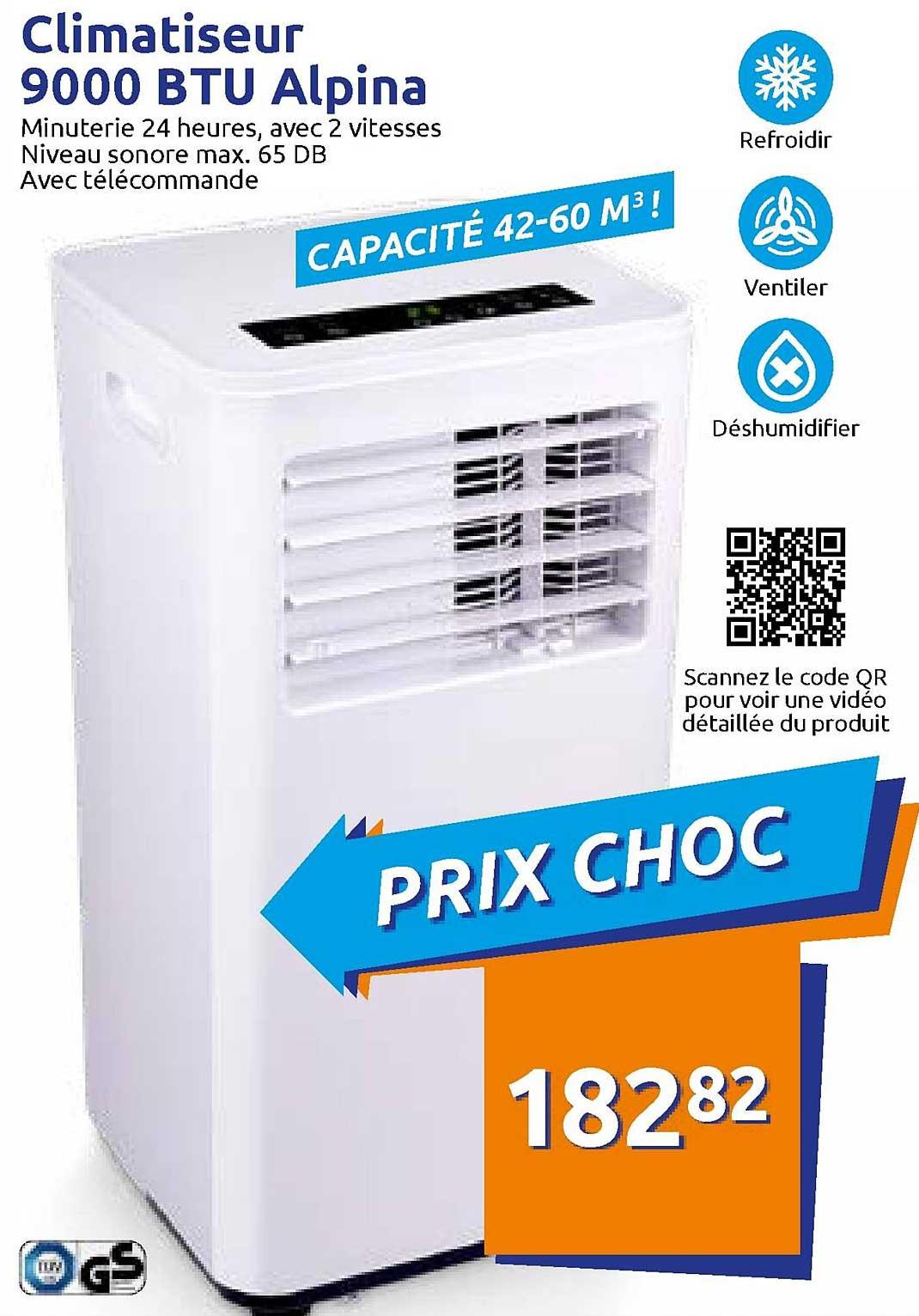 Action Climatiseur 9000 Btu Alpina