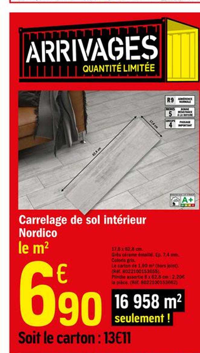 Offre Carrelage De Sol Interieur Nordico Chez Brico Depot