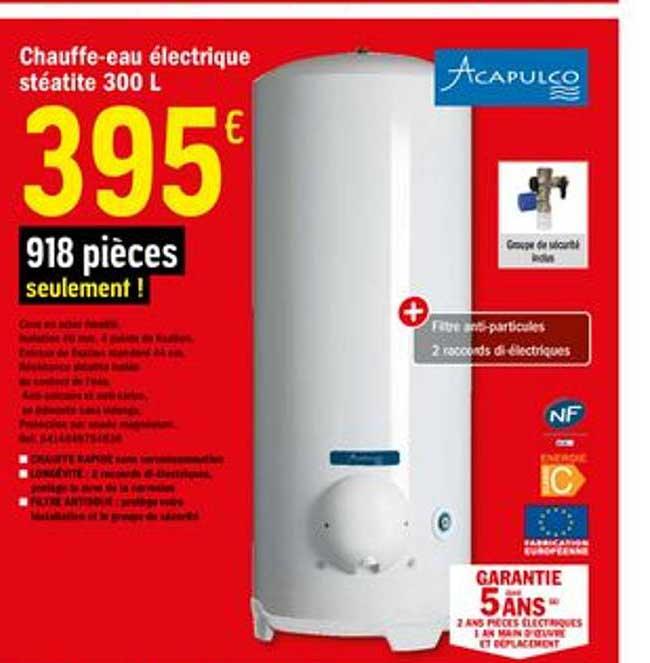 Offre Chauffe Eau Electrique Steatite Acapulco Chez Brico Depot