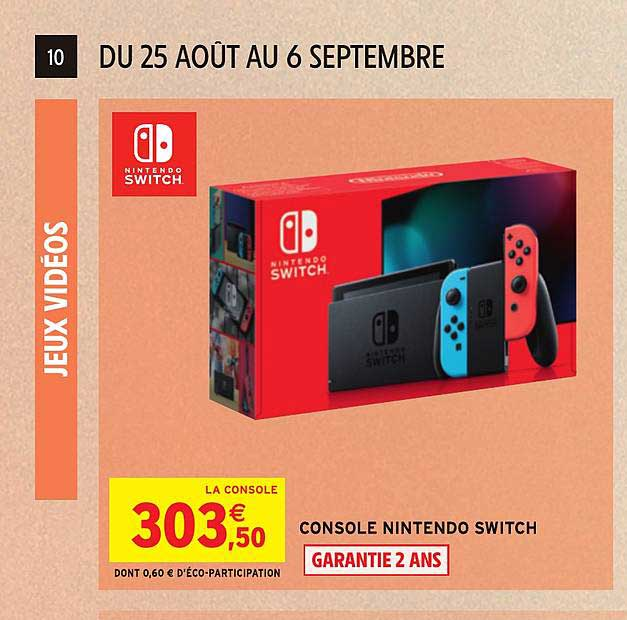 Intermarché Console Nintendo Switch