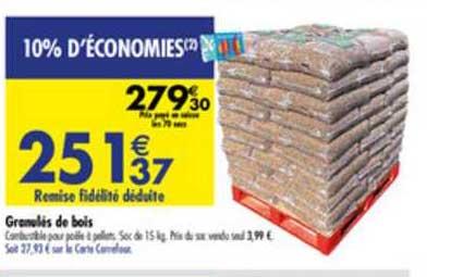 Carrefour Granulés De Bois